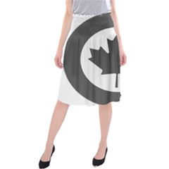 Low Visibility Roundel Of The Royal Canadian Air Force Midi Beach Skirt
