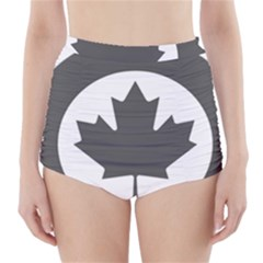 Low Visibility Roundel Of The Royal Canadian Air Force High-Waisted Bikini Bottoms