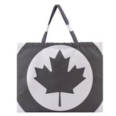 Low Visibility Roundel Of The Royal Canadian Air Force Zipper Large Tote Bag