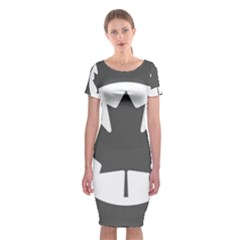 Low Visibility Roundel Of The Royal Canadian Air Force Classic Short Sleeve Midi Dress