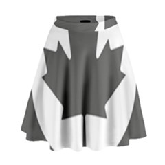 Low Visibility Roundel Of The Royal Canadian Air Force High Waist Skirt
