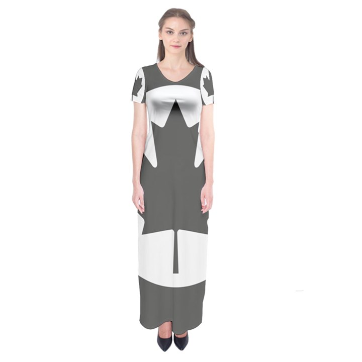 Low Visibility Roundel Of The Royal Canadian Air Force Short Sleeve Maxi Dress