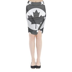 Low Visibility Roundel Of The Royal Canadian Air Force Midi Wrap Pencil Skirt