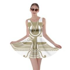 Stylized Faravahar  Skater Dress