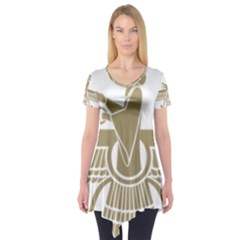 Stylized Faravahar  Short Sleeve Tunic