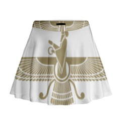 Stylized Faravahar  Mini Flare Skirt