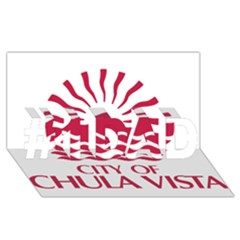 Seal Of Chula Vista #1 Dad 3d Greeting Card (8x4)