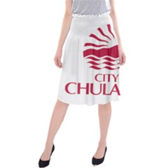 Seal Of Chula Vista Midi Beach Skirt
