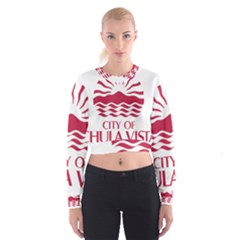 Seal Of Chula Vista Women s Cropped Sweatshirt