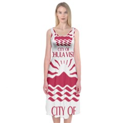 Seal Of Chula Vista Midi Sleeveless Dress