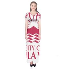 Seal Of Chula Vista Short Sleeve Maxi Dress