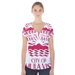 Seal Of Chula Vista Short Sleeve Front Detail Top