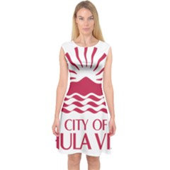 Seal Of Chula Vista Capsleeve Midi Dress