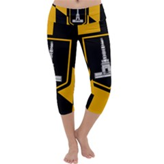 Flag Of Baltimore Capri Yoga Leggings