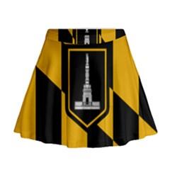Flag Of Baltimore Mini Flare Skirt