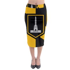 Flag Of Baltimore Midi Pencil Skirt