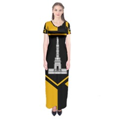Flag Of Baltimore Short Sleeve Maxi Dress