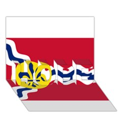 Flag Of St Hope 3d Greeting Card (7x5)