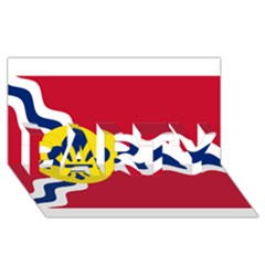 Flag Of St Party 3d Greeting Card (8x4)