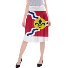 Flag Of St Midi Beach Skirt