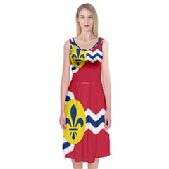 Flag Of St Midi Sleeveless Dress