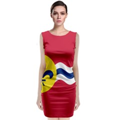 Flag Of St Classic Sleeveless Midi Dress
