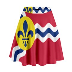 Flag Of St High Waist Skirt