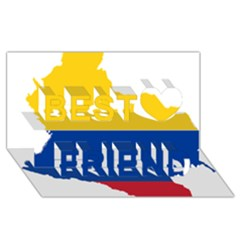 Flag Map Of Colombia Best Friends 3d Greeting Card (8x4)