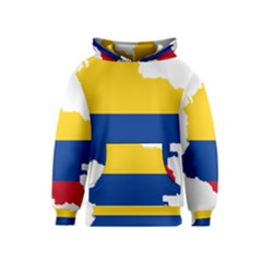 Flag Map Of Colombia Kids  Pullover Hoodie