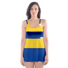 Flag Map Of Colombia Skater Dress Swimsuit