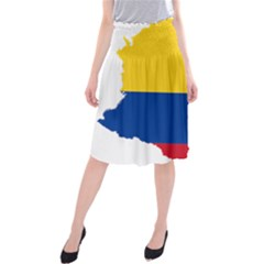 Flag Map Of Colombia Midi Beach Skirt