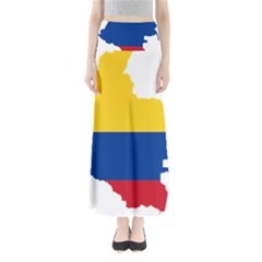 Flag Map Of Colombia Maxi Skirts