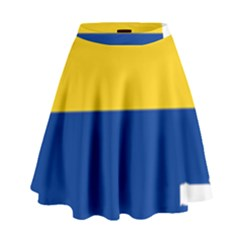 Flag Map Of Colombia High Waist Skirt