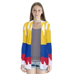 Flag Map Of Colombia Drape Collar Cardigan
