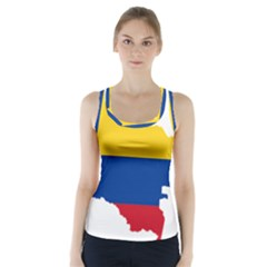 Flag Map Of Colombia Racer Back Sports Top