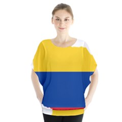 Flag Map Of Colombia Blouse