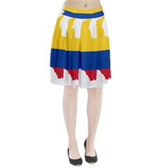 Flag Map Of Colombia Pleated Skirt