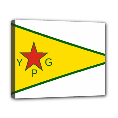 Flag Of The People s Protection Units Canvas 10  x 8