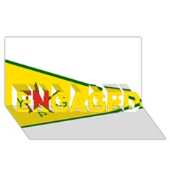Flag Of The People s Protection Units ENGAGED 3D Greeting Card (8x4)