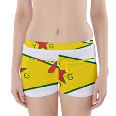 Flag Of The People s Protection Units Boyleg Bikini Wrap Bottoms