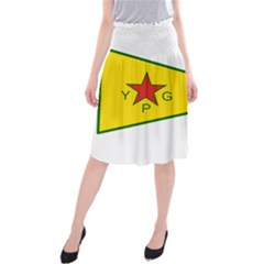 Flag Of The People s Protection Units Midi Beach Skirt