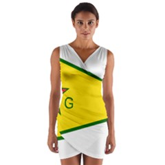 Flag Of The People s Protection Units Wrap Front Bodycon Dress