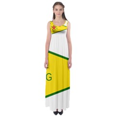 Flag Of The People s Protection Units Empire Waist Maxi Dress