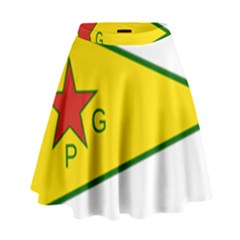 Flag Of The People s Protection Units High Waist Skirt