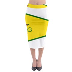 Flag Of The People s Protection Units Midi Pencil Skirt