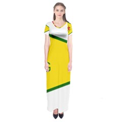 Flag Of The People s Protection Units Short Sleeve Maxi Dress