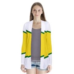 Flag Of The People s Protection Units Drape Collar Cardigan