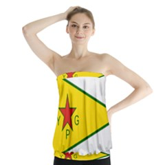 Flag Of The People s Protection Units Strapless Top