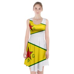 Flag Of The People s Protection Units Racerback Midi Dress