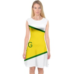 Flag Of The People s Protection Units Capsleeve Midi Dress